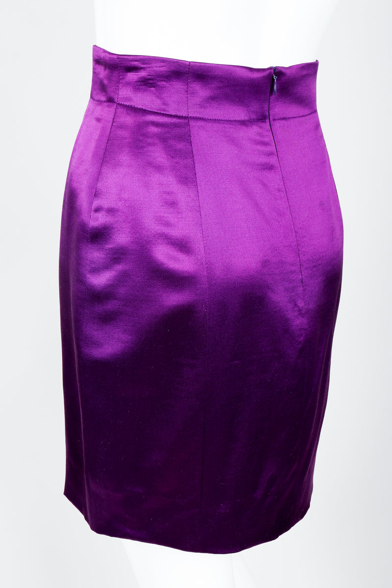 Vintage Escada Magical Satin Skirt Suit on Mannequin Rear at Recess