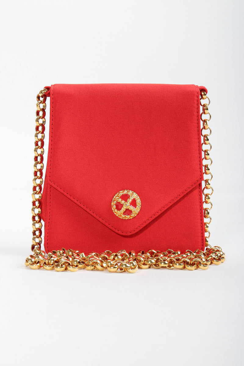 Vintage Escada Mini Crossbody Envelope Bag front at Recess Los Angeles