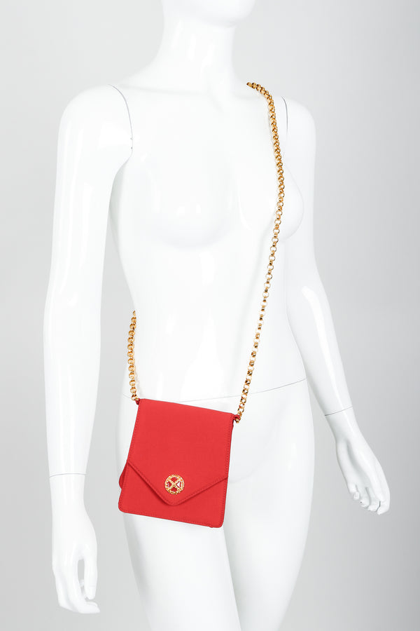 Vintage Escada Mini Crossbody Envelope Bag on mannequin at Recess Los Angeles