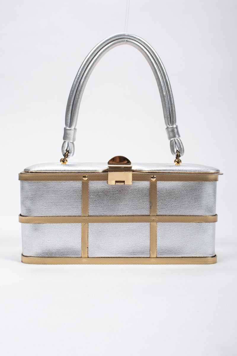 Recess Los Angeles Vintage Etra Metallic Lamé Cage Box Bag