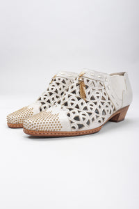 Recess Los Angeles Vintage Faire Lady Studded Leather Cut Out Booties Shooties