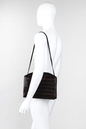 Recess Los Angeles Vintage Fendi Slim Embroidered Leather Shoulder Bag