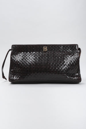 Recess Los Angeles Vintage Fendi Woven Leather Clutch