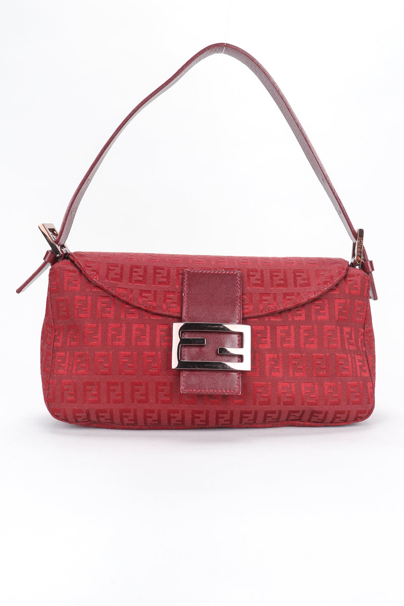 Recess Designer Consignment Vintage Fendi Zucca Zucchino Canvas Monogram Baguette Shoulder Bag Los Angeles Resale
