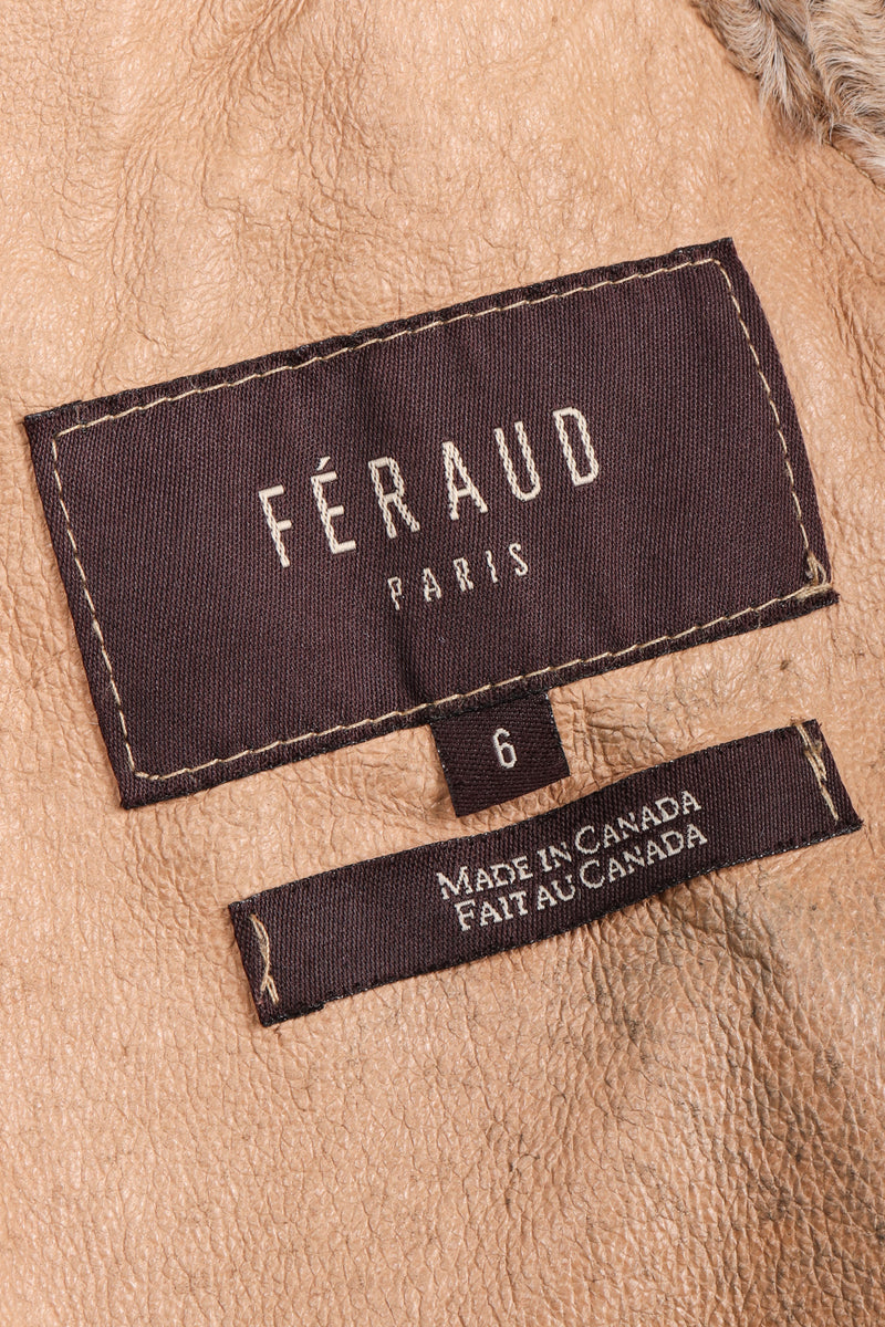 Recess Los Angeles Vintage Louis Feraud Shearling Persian Lamb Fur Coat