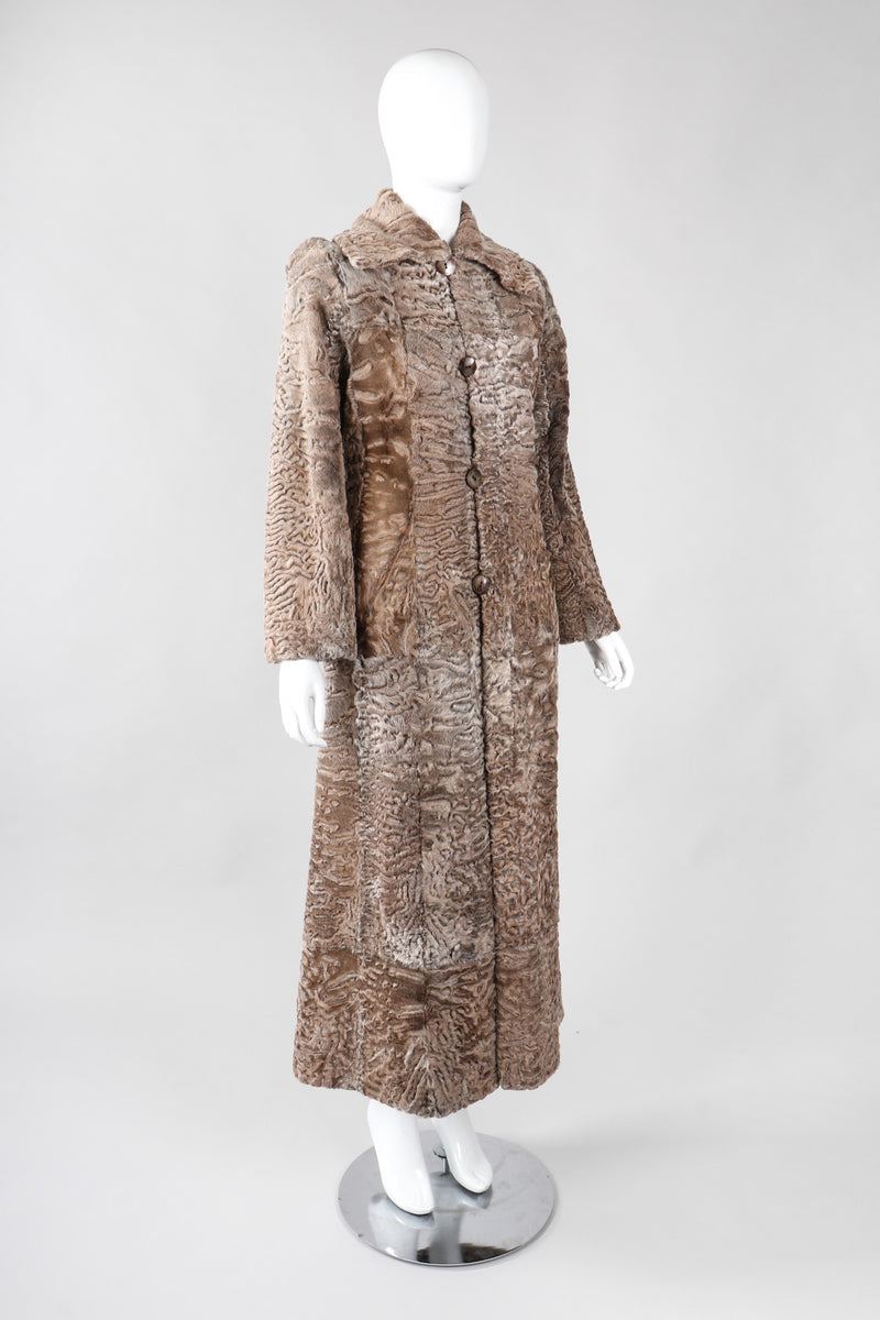 Recess Los Angeles Vintage Louis Feraud Reversible Shearling Persian Lamb Fur Coat