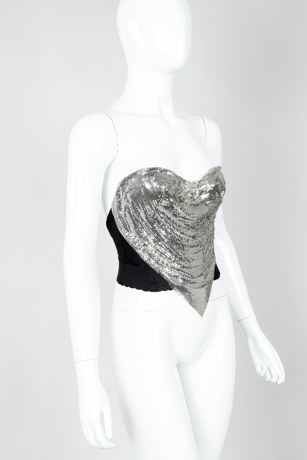 Vintage Ferrara Liquid Mesh Bustier on Mannequin cropped at Recess Los Angeles
