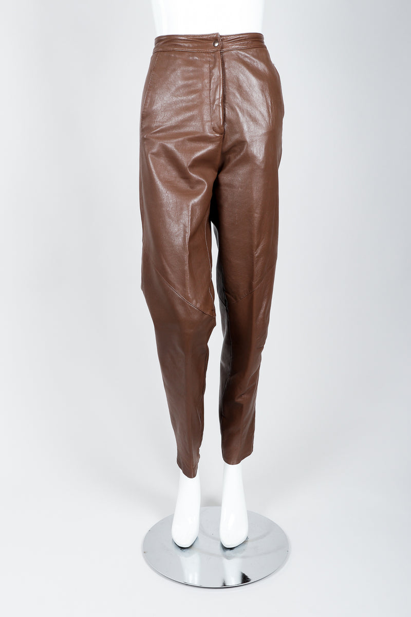 Vintage Firenze Santa Barbara Leather Utility Pant on Mannequin front at Recess