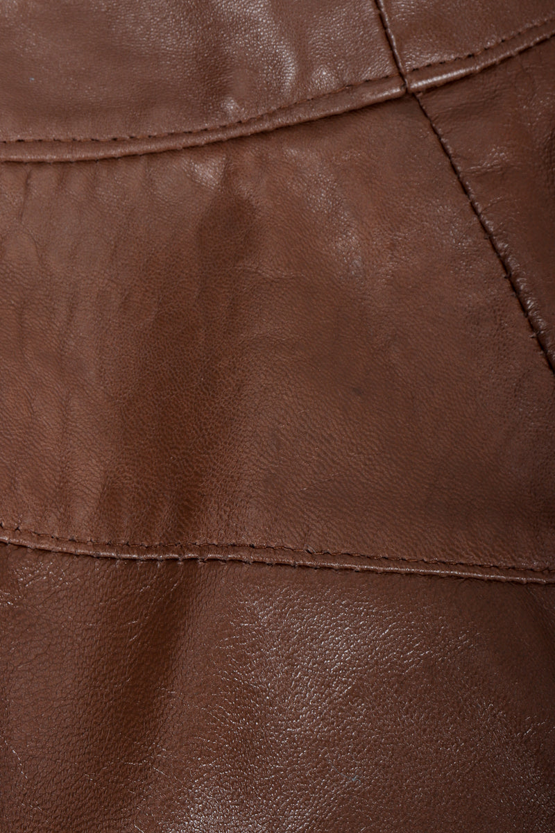 Vintage Firenze Santa Barbara Leather jacket leather texture at sleeves