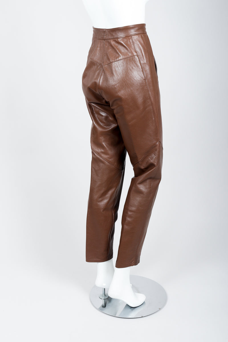 Vintage Firenze Santa Barbara Leather Utility Pant on Mannequin back at Recess