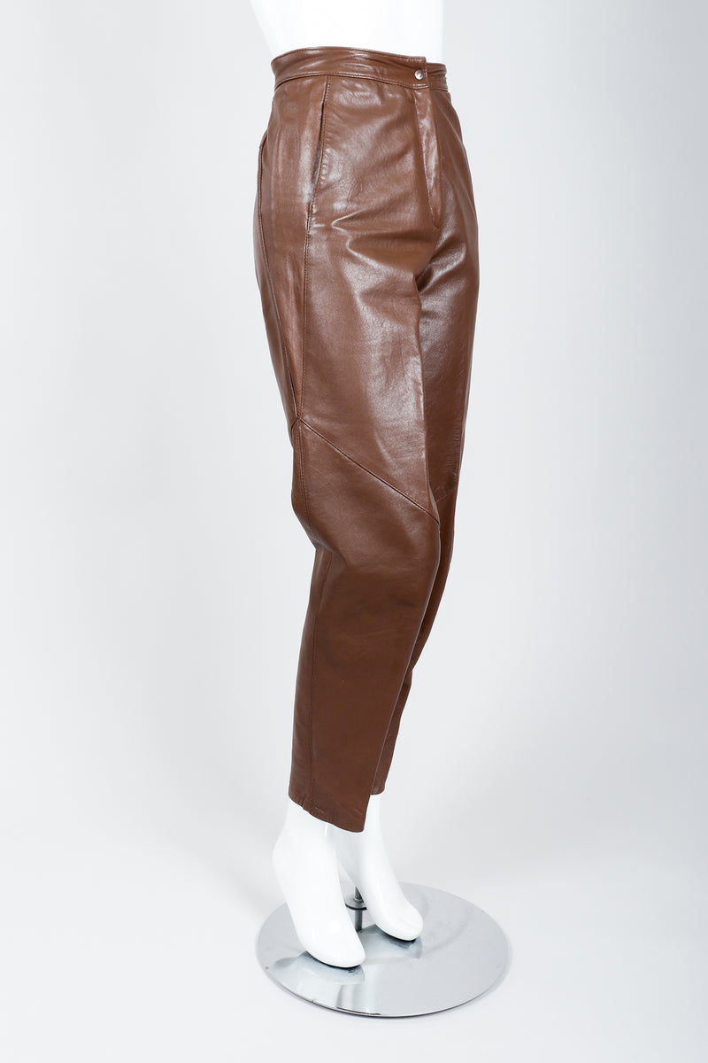 Vintage Firenze Santa Barbara Leather Utility Pant on Mannequin side at Recess