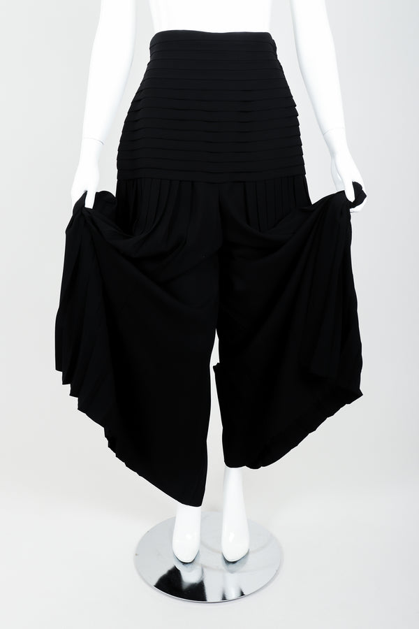 Vintage Frank Usher Pleated Palazzo Pant on Mannequin front at Recess Los Angeles