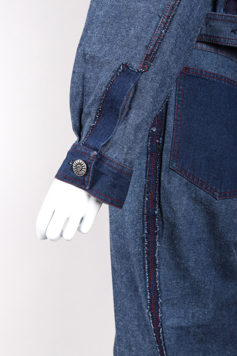 Recess Los Angeles Vintage Future Ozkek Reverse Denim Jacket & Pant Set Canadian Tuxedo