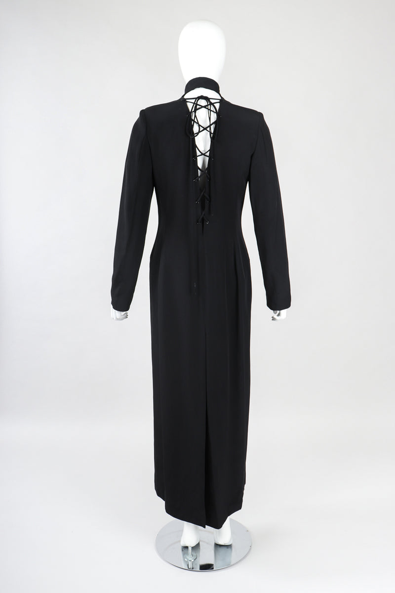 Recess Designer Consignment Vintage Future Ozbek Matrix Maxi Coat Dress Los Angeles Resale