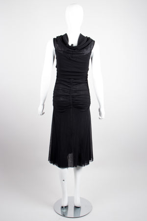 Jean Paul Gaultier Soleil Ruched Sheer Mesh Dress