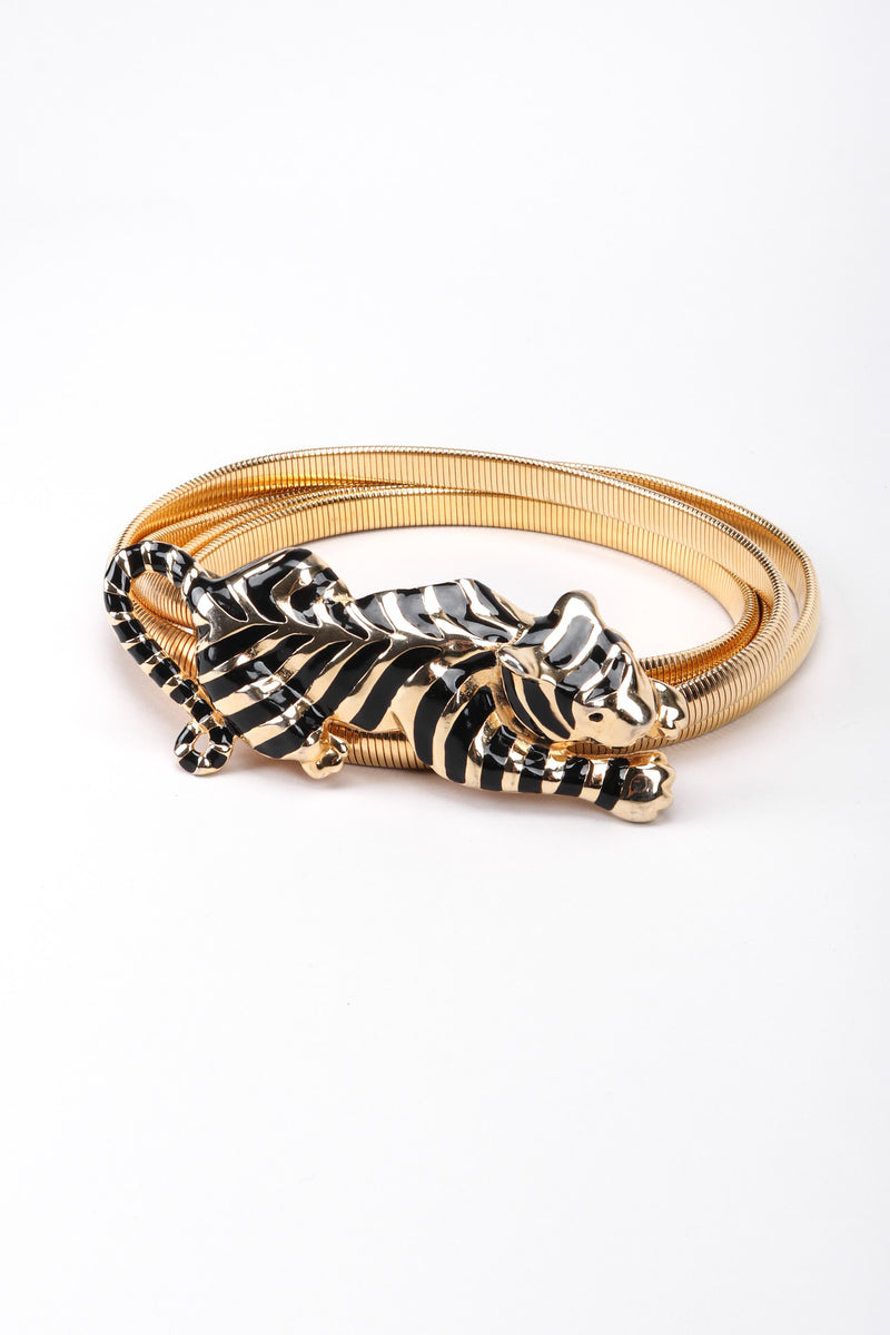 Recess Los Angeles Gay Boyer Gold Metal Striped Panther Belt