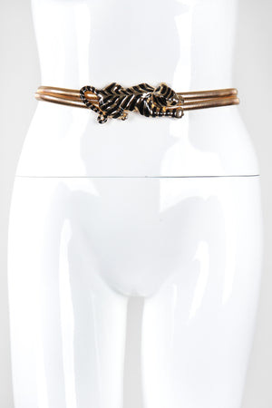 Recess Los Angeles Vintage Gay Boyer Gold Metal Striped Panther Belt