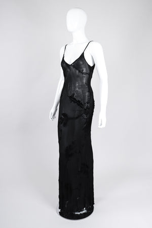 Recess Los Angeles Vintage Ghost 90s Sheer Velvet Burnout Slip Dress