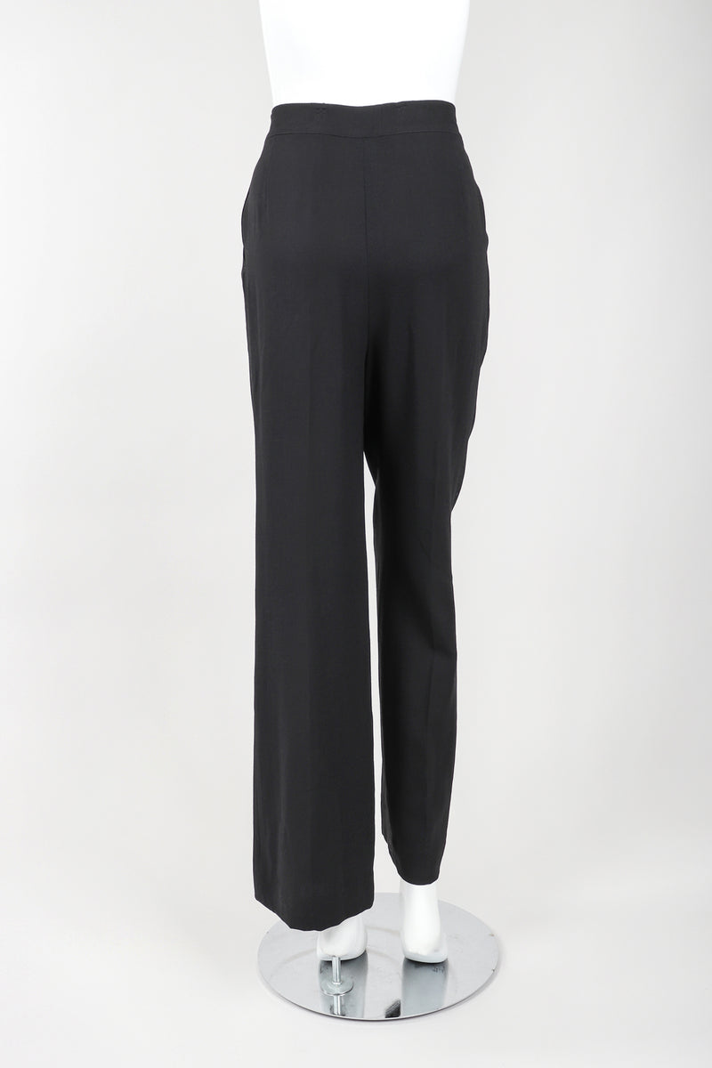 Recess Vintage Gianfranco Ferre Black Pant Back View on Mannequin
