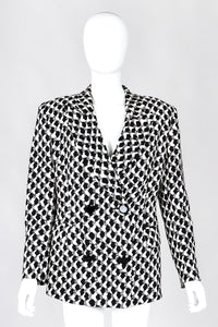 Recess Los Angeles Vintage Gianfranco Ferre Graphic Black And White Double Breasted Jacket Double Pleat Pants