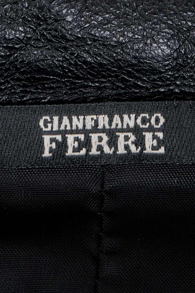 Vintage Gianfranco Ferre Label detail