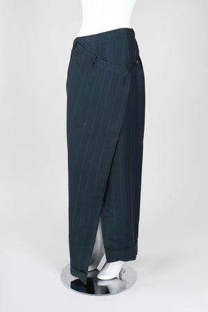 Recess Los Angeles Vintage Gianfranco Ferre Asymmetrical Wrap Trouser Skirt