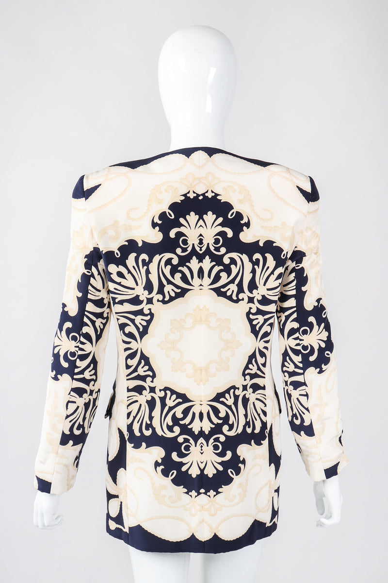 Recess Los Angeles Vintage Gianfranco Ferre Studio 0001 Baroque Rope Print Silk Jacket & Blouse Set