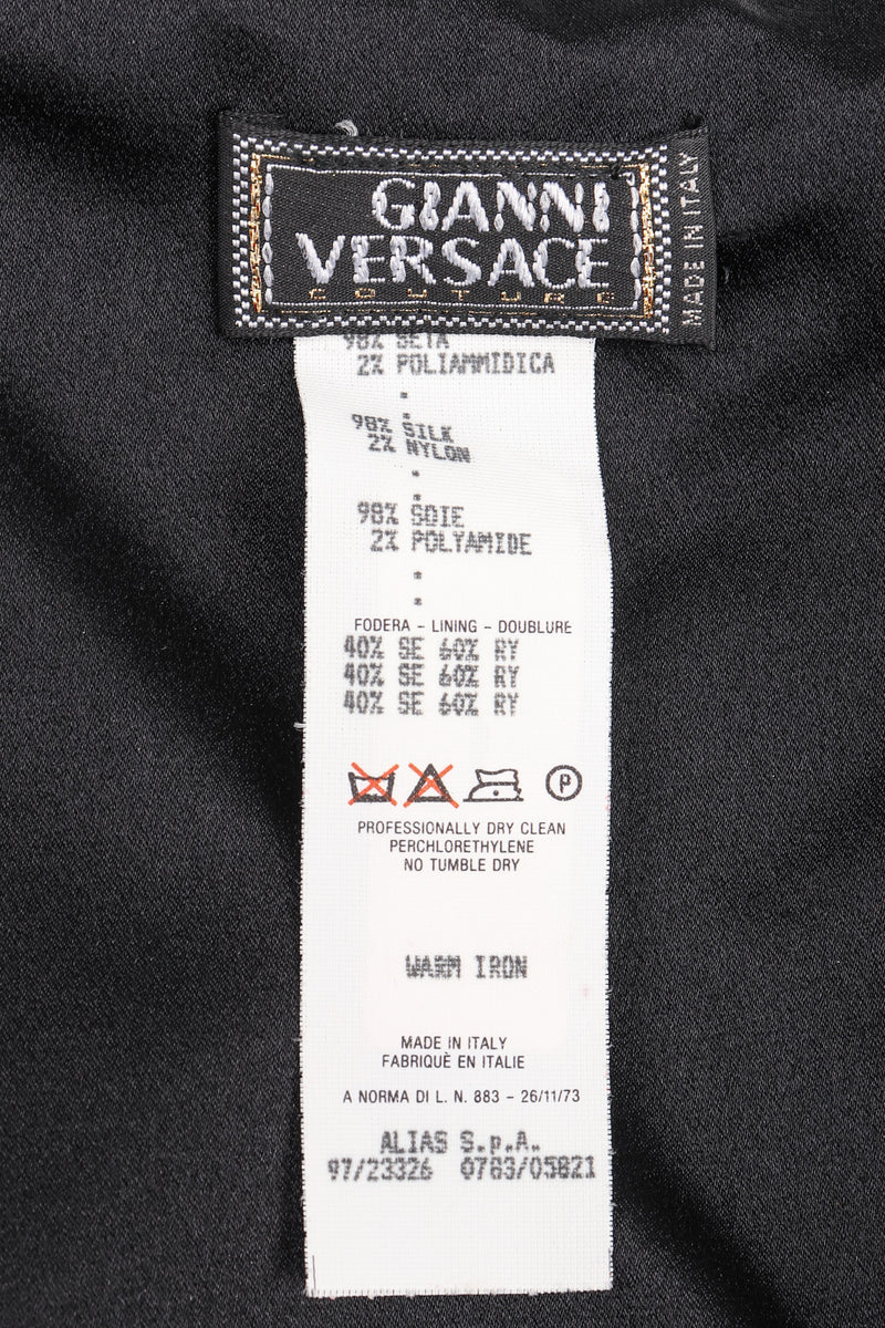 Recess Los Angeles Vintage Gianni Versace Silk Asymmetrical Waterfall Dress
