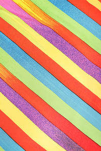 Vintage Versace Carnival Stripe Skirt Set fabric detail at Recess