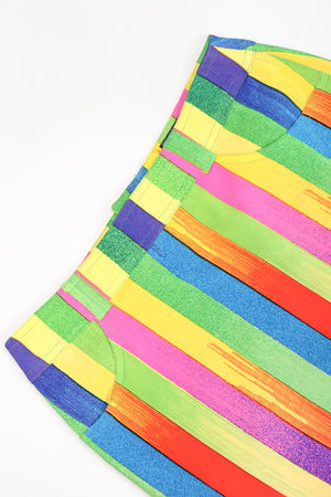 Vintage Versace Carnival Stripe Skirt Set Waistline at Recess