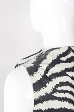 Recess Los Angeles Vintage Gino Paoli Leather Zebra Top