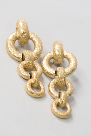 Givenchy Gold Rolo Chain Drop Earring