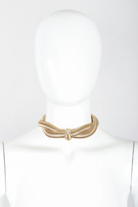 Recess Designer Consignment Vintage Givenchy Twisted Stretch Metal Collar Necklace Los Angeles Resale