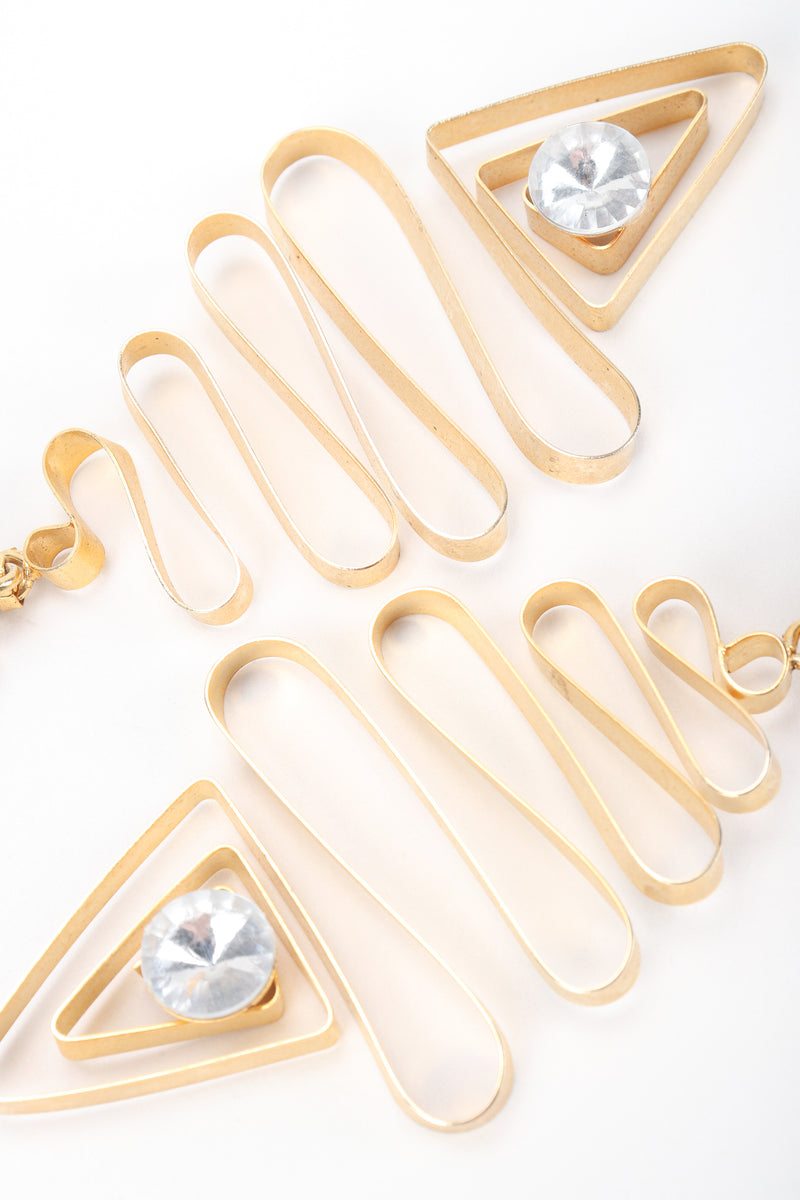 Recess Designer Consignment Vintage Gold Metal Ribbon Earrings Los Angeles Resale