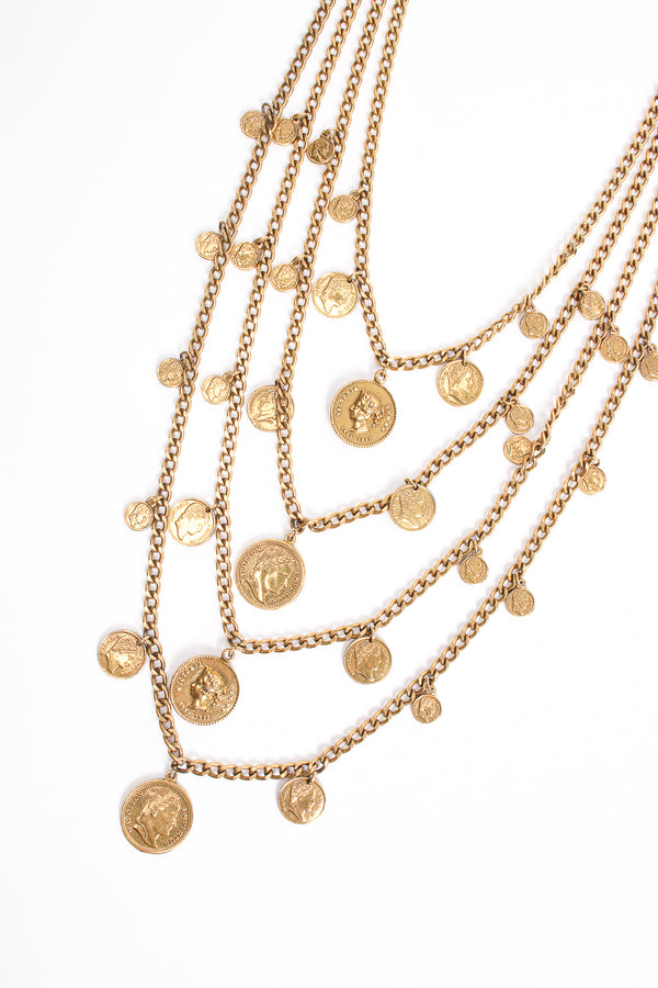 Vintage Goldette Multi-Strand Layered Coin Necklace at Recess Los Angeles