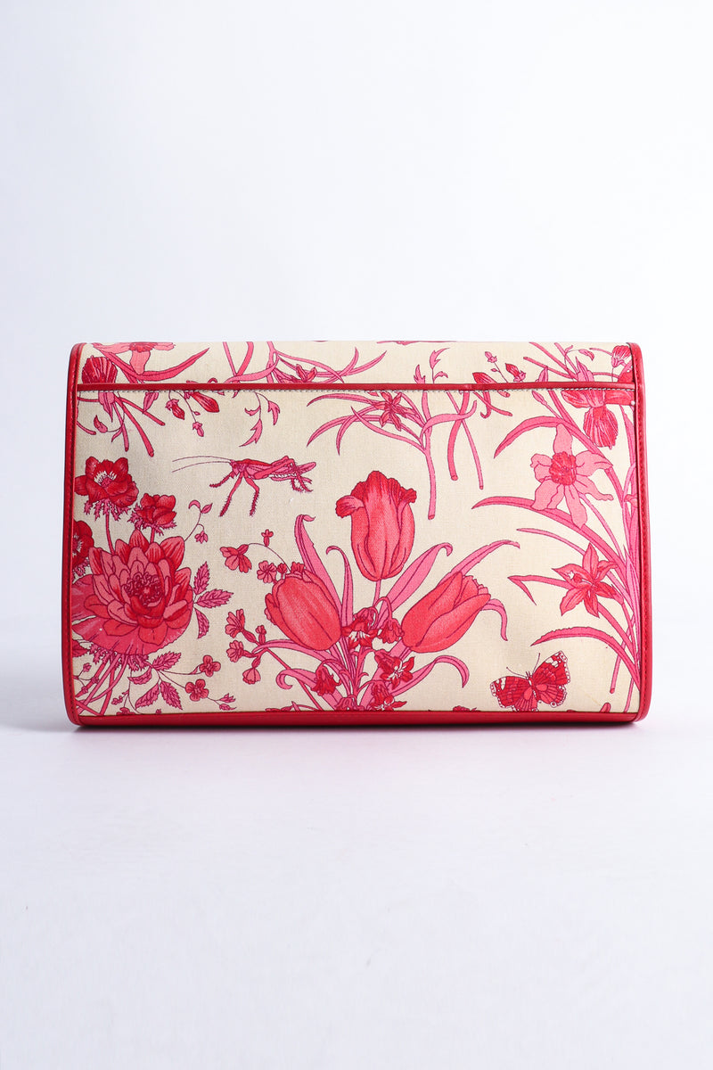 Vintage Gucci Red Flora Convertible Clutch Back at Recess Los Angeles