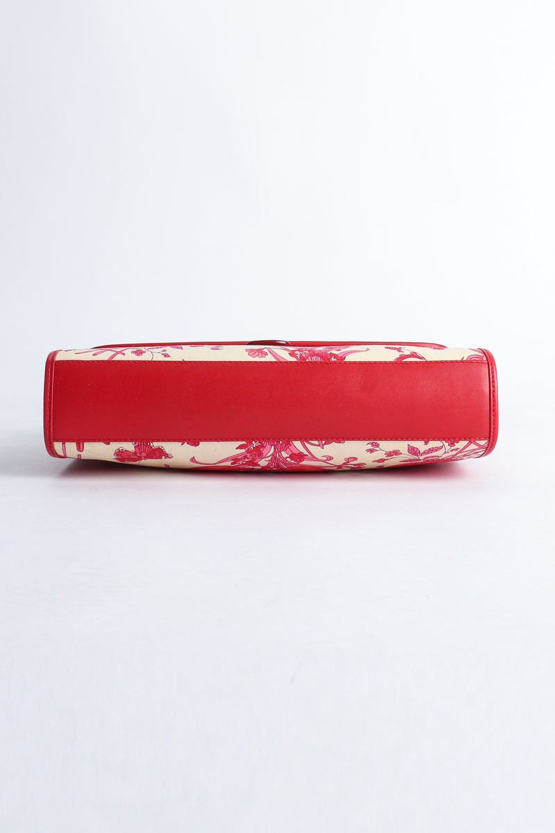 Vintage Gucci Red Flora Convertible Clutch Bottom  at Recess Los Angeles