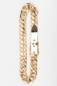 Recess Los Angeles Vintage Gucci Gold Chain Buckle Belt