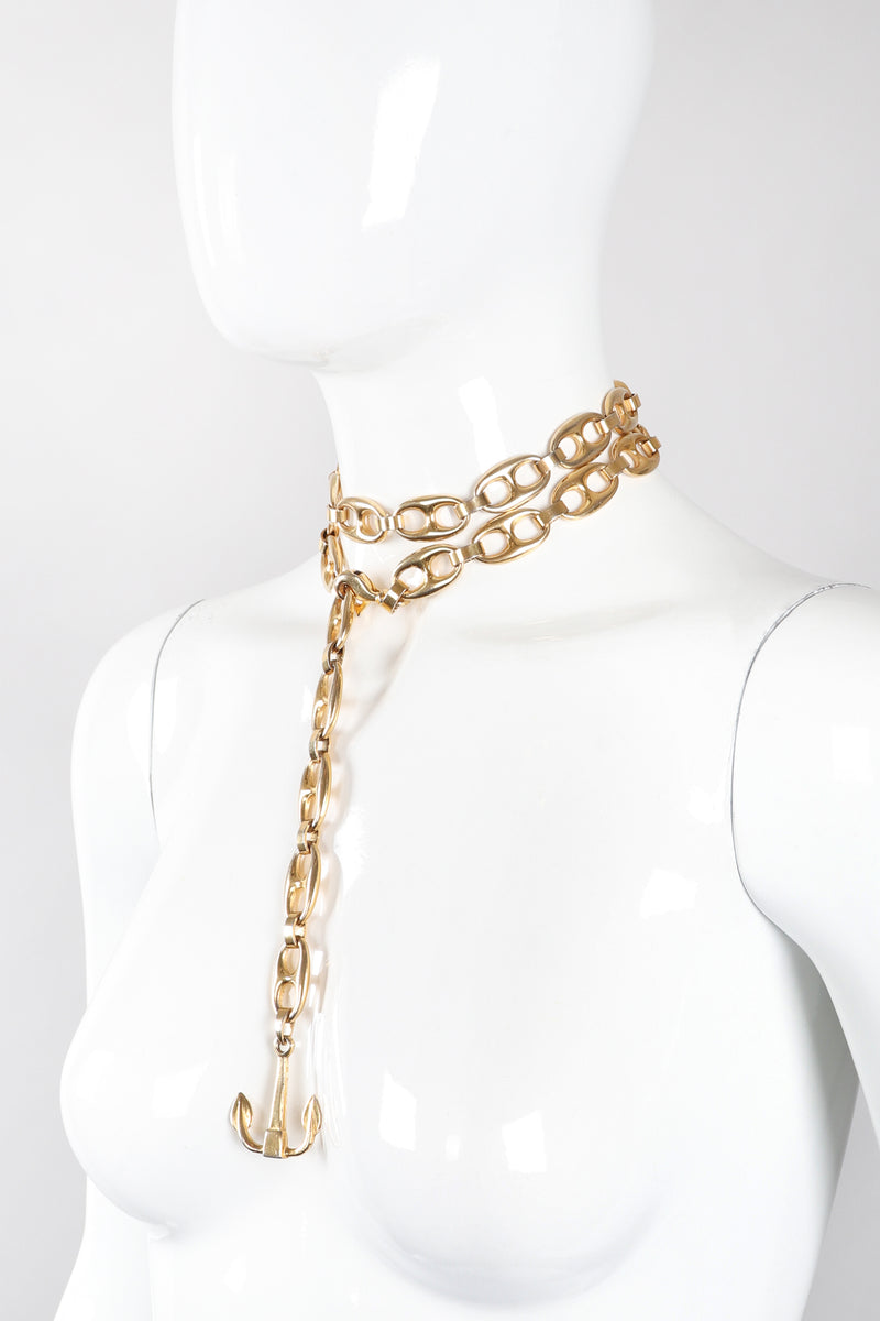 Recess Los Angeles Vintage Gucci Puffy Mariner Link Anchor Chain Belt / Necklace