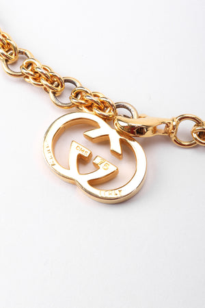 Recess Los Angeles Vintage Gucci Gold Interlocking GG Logo Chain Belt