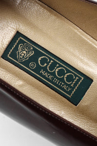 Recess Los Angeles Vintage Gucci GG Logo Leather Heels