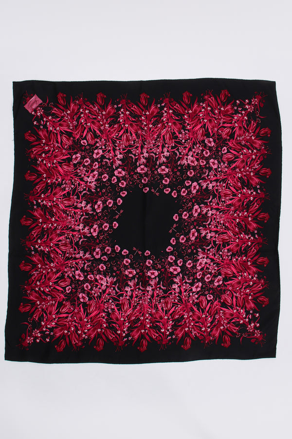 Vintage Gucci Burgundy Mono Flora Silk Scarf at Recess Los Angeles