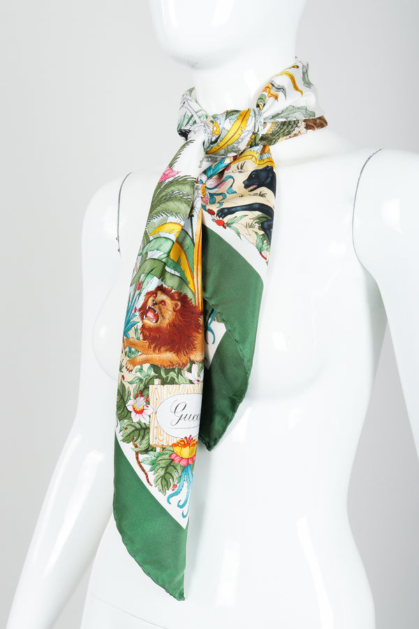 Vintage Gucci deadstock Vittorio Accornero The Jungle Scarf on Mannequin at Recess Los Angeles