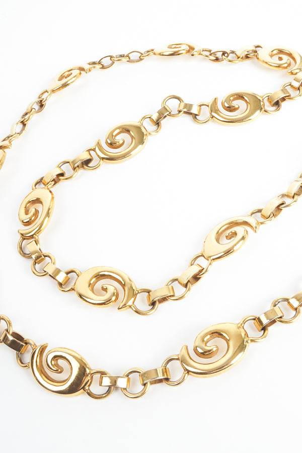 Vintage Gucci Gold G Swirl Chain Belt at Recess Los Angeles