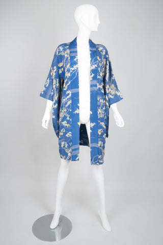 Japanese Breezy Bonsai Vintage Silk Haori Kimono Jacket