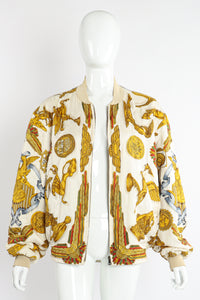Vintage Hermés Baroque Pegasus Bomber Jacket on Mannequin open at Recess Los Angeles