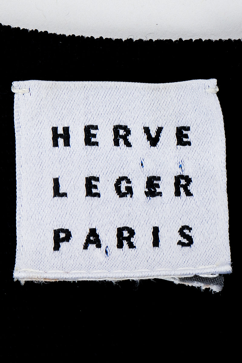 Vintage Herve Leger label on black