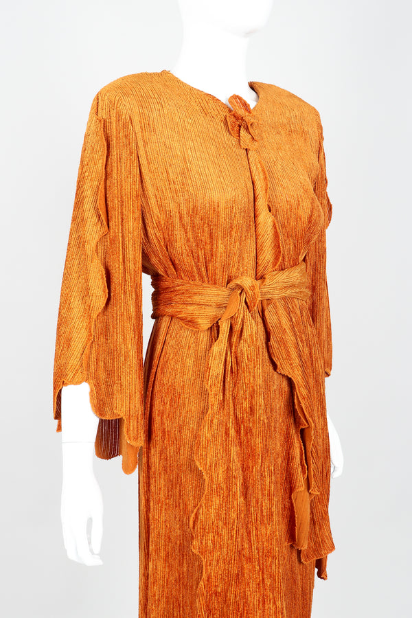Vintage Hollys Harp Ribbed Chenille Belted Jacket & Skirt Set on Mannequin Front Crop at Recess