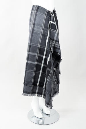Vintage Isaac Mizrahi Punk Plaid Flannel Wrap Skirt side on Mannequin at Recess