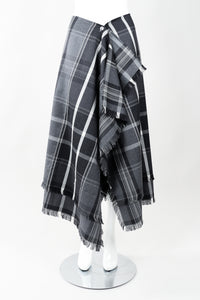 Vintage Isaac Mizrahi Punk Plaid Flannel Wrap Skirt Front on Mannequin at Recess